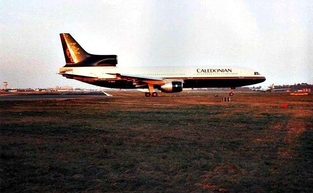 Caledonian Lockheed Tristar, Gatwick Airport