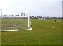 SZ1192 : Boscombe, football pitch by Mike Faherty