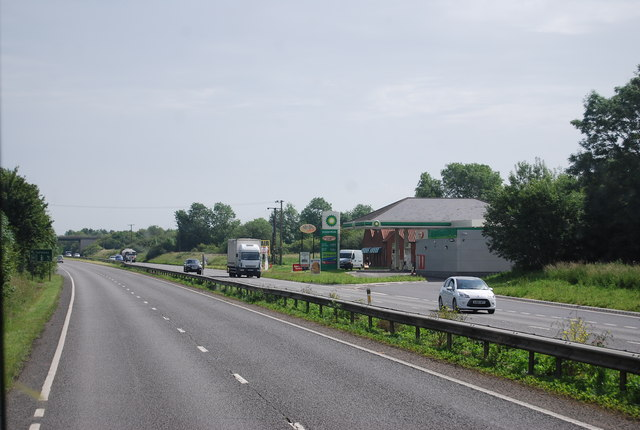 A11 approaching the services