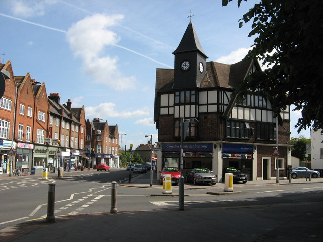 Junction of Lower Addiscombe Road and Bingham Road