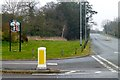 SK8354 : Village Sign, Coddington by David Lally