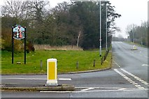 SK8354 : Village Sign, Coddington by David Lally