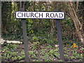 TM5386 : Church Road sign by Adrian Cable