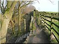 SE0921 : Footpath junction on the Calderdale Way by Humphrey Bolton
