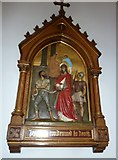 SP4540 : St John the Evangelist, Banbury: 1st Station of the Cross by Basher Eyre
