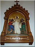 SP4540 : St John the Evangelist, Banbury: 10th Station of the Cross by Basher Eyre