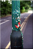 SP0583 : Winterbourne garden entry stickers by Phil Champion