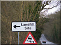 TM4678 : Landfill Site sign by Adrian Cable