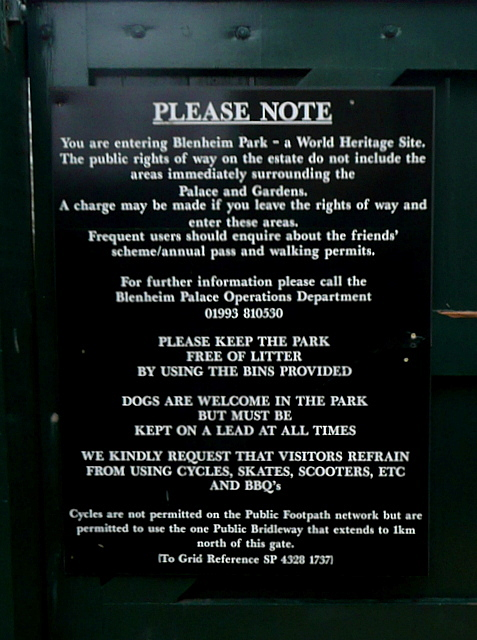 Notice on the side entrance