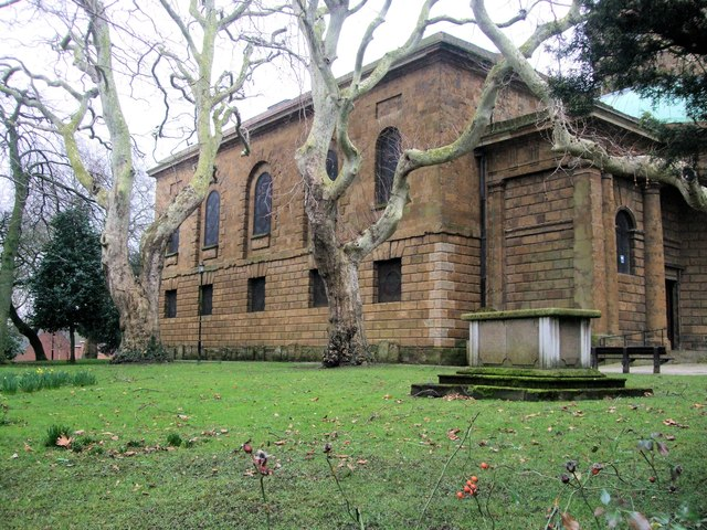 Side view of St Mary's Church, Banbury