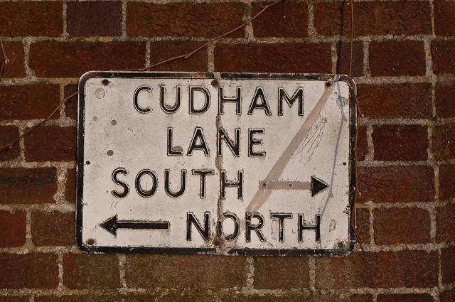 Cudham street sign