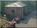 SK3706 : Volunteer staff at Shackerstone Station by Trevor Rickard