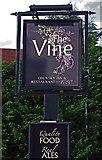 SO8483 : The Vine (3) - sign, 1 Dunsley Road, Kinver by P L Chadwick