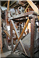 SK3707 : Help-Out Mill, Odstone, second floor machinery by Chris Allen