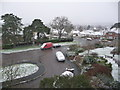 SZ0796 : Northbourne: a March dusting of snow by Chris Downer