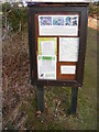 TM4468 : Westleton Common Notice Board by Adrian Cable