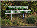 TG5201 : Warren Road sign by Adrian Cable