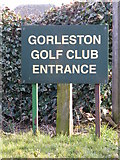 TG5201 : Gorleston Golf Club entrance sign by Adrian Cable