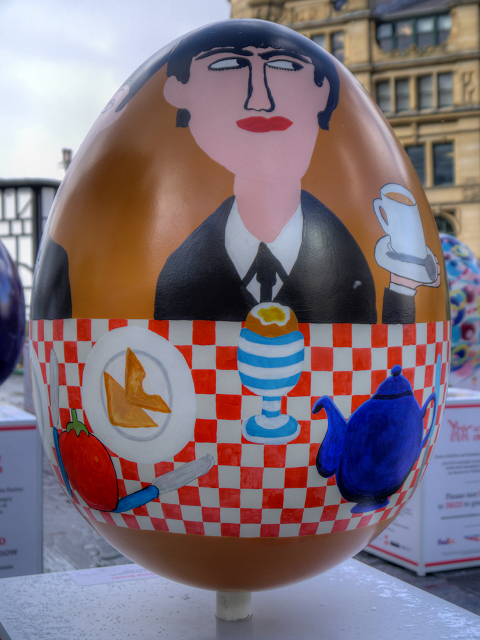 Breakfast With The Beatles by Gordon Beswick and Harry Pye - Big Egg Hunt, Exchange Square
