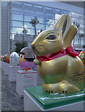 SJ8398 : Gold Bunny and Easter Eggs, Exchange Square by David Dixon