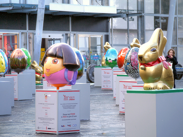Easter Eggs, Exchange Square