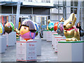 SJ8398 : Easter Eggs, Exchange Square by David Dixon