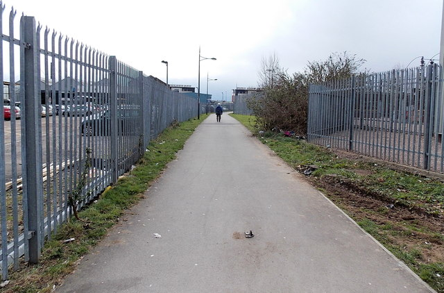 Path from Corporation Road to Rodney Road, Newport by Jaggery