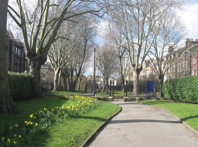 The Southern half of Stepney Green Gardens, East London