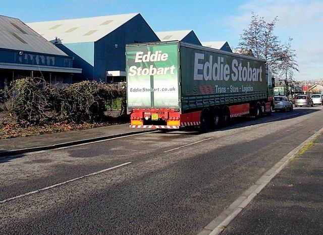 Eddie Stobart lorry in Caswell Way, Newport