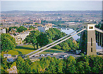 ST5673 : Southward view from Observatory above Clifton Suspension Bridge, 1962 by Ben Brooksbank