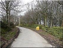 SE0721 : Junction of Elland Footpath 51 with Dog Lane by Humphrey Bolton