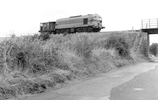 Engine and brake van, Castletown near Nobber