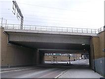 TQ3084 : Railway bridge over York Way, King's Cross by David Anstiss