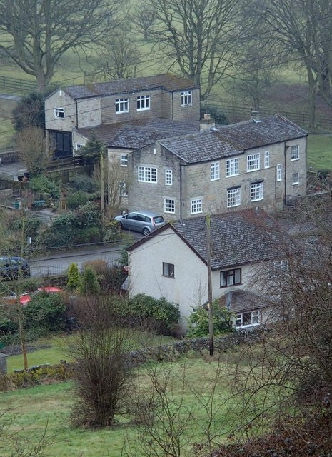 View down to houses on Ladygrove Road