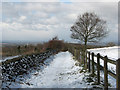 SK5014 : Sunshine and snow at Beacon Hill by John Sutton