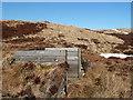 NT1924 : A shooting butt at Shielhope Head by Walter Baxter
