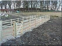 SE0721 : Gates on Elland Footpath 51 by Humphrey Bolton