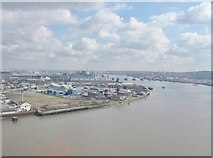 TQ3980 : View South-east from The  Emirates Airline Thames cable car by Derek Voller