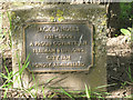 SP3276 : Plaque for memorial tree, Coat of Arms Bridge Road, Coventry CV3 by Robin Stott