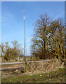 SU3980 : Mast at South Fawley Pumping Stn by Des Blenkinsopp