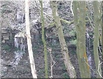 SE0721 : Icicles in Crawstone Clough by Humphrey Bolton