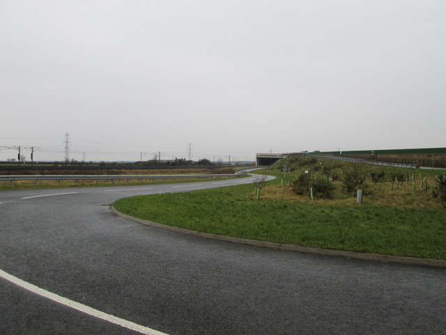 Service road south of Gretna