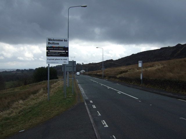 Entering Bolton on Belmont Road (A675)