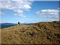 NM3454 : Ancient cairn and trig point, Caliach Point by Karl and Ali