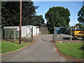 SP0892 : Garages and containers, Witton Cemetery B23 by Robin Stott