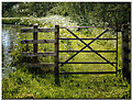 SP4930 : Gate on the towpath by Gillie Rhodes