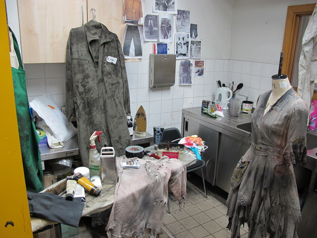 Costume dyeing room, Royal Exchange Theatre