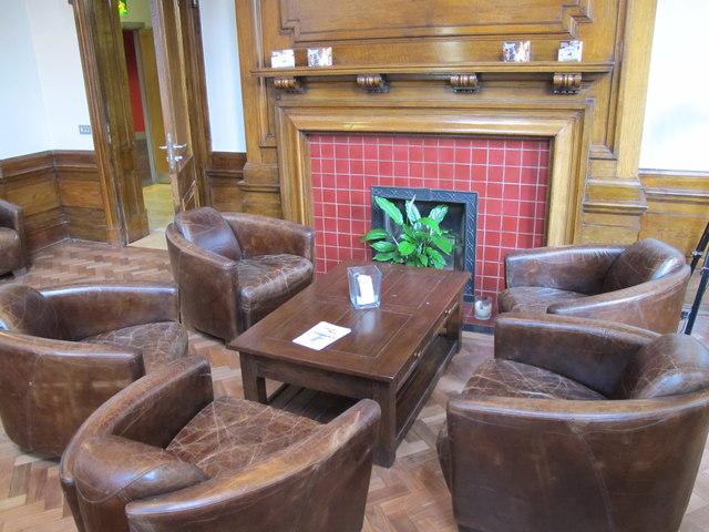 Exchange Club suite reception  area, Royal Exchange Theatre