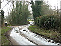 TM3298 : Bends on Mill Lane, north of Seething by Evelyn Simak