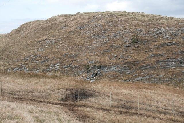Craggy Rock face north-west of dun, Dunlossit Estate, Islay
